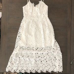 🍦Astr White Lace Spaghetti Strap Dress